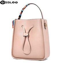 COSSLOO New genuine leather bag designer handbags high quality Dollar shoulder bag women messenger bags ladies