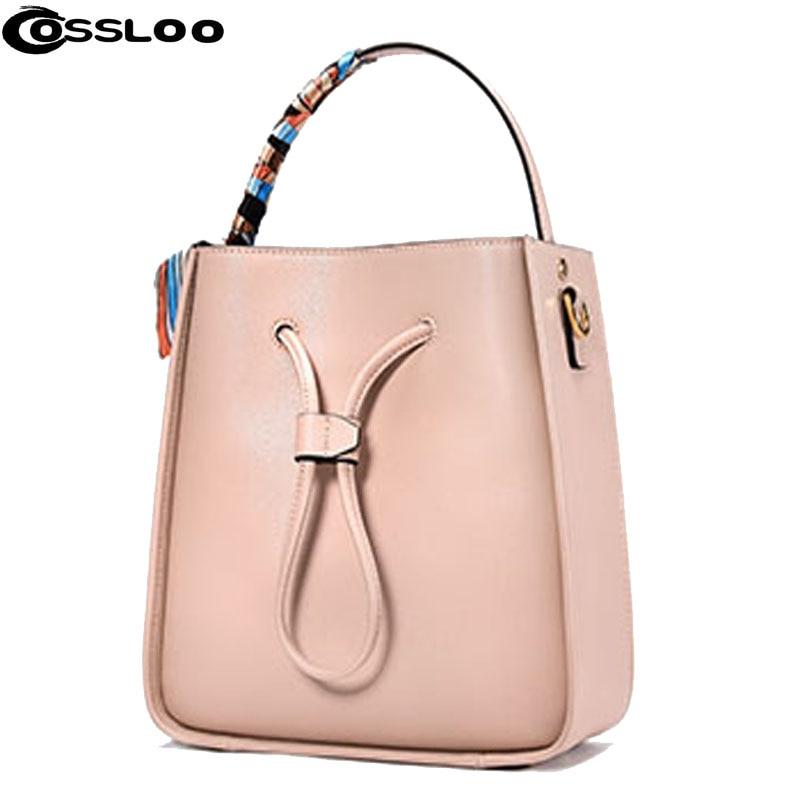 COSSLOO New genuine leather font b bag b font designer handbags high quality Dollar shoulder font