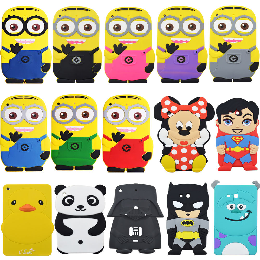 3D Cartoon Handsome Batman Shockproof soft Rubber Silicone Case covr For For ipad mini/2/3 Retina ...