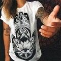 Nueva moda primavera verano mujeres de la camiseta de la vendimia clothing tops heavy metal skeleton imprimir camiseta impresa mujer ropa nvtx002