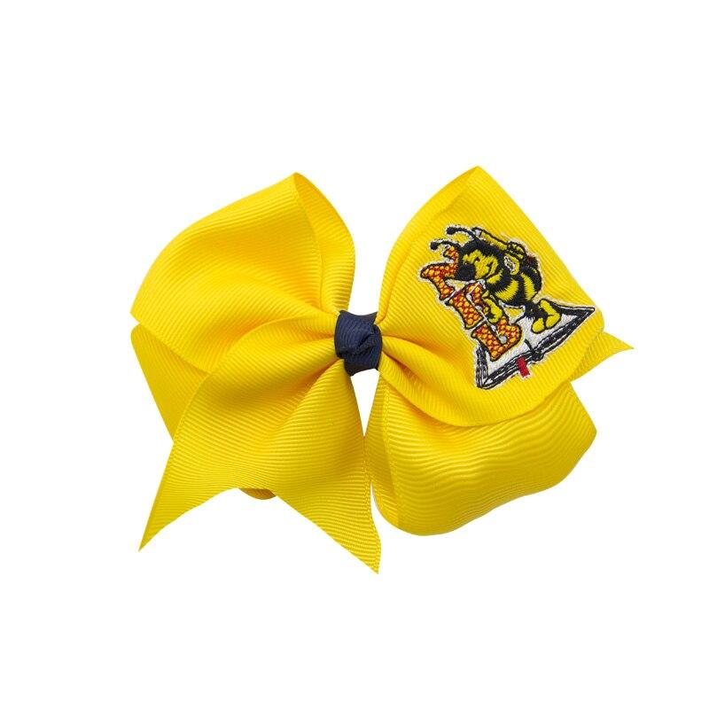 Adogirl 50pcs Logo Embroidery Handmade Hairpins Personalized Customization Hair Bows School Girls Headwear Hair Accessories