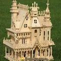 Головоломки 3D деревянные головоломки миниатюрный кукольный домик кукольный дом Деревянный Дом 4 номеров Вилла комплект, играть дома