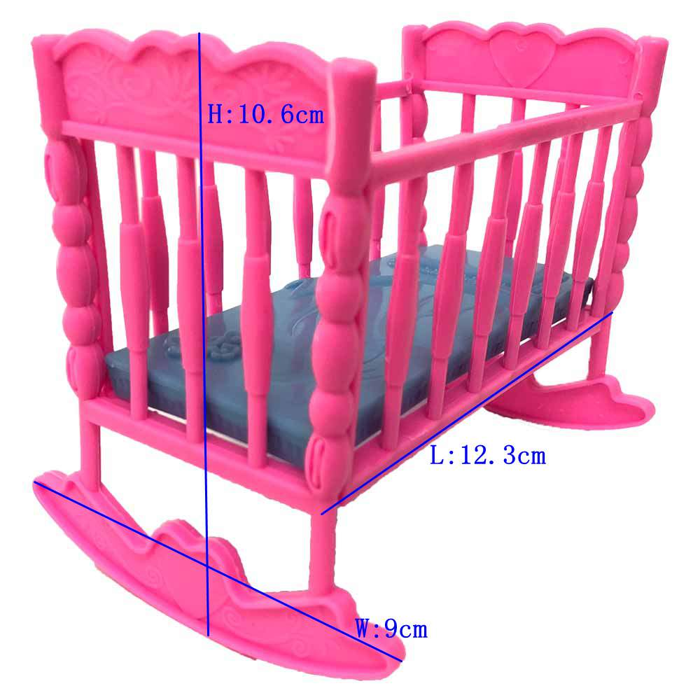 NK Newest Doll Accessories Baby Bed Super Cute Bed For Small Kelly Doll For Barbie Dolls