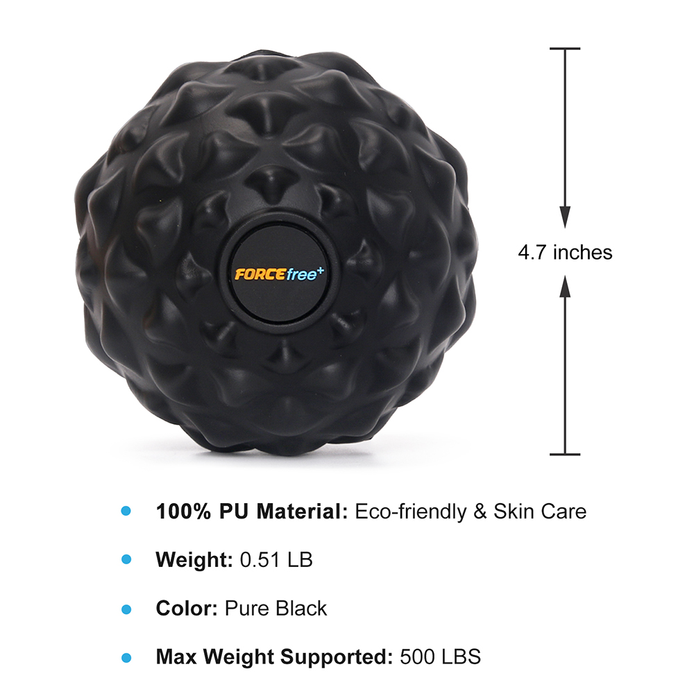 Forcefree+ PU Fitness Ball Therapy Massage Balls Peanut Lacrosse Mobility 3