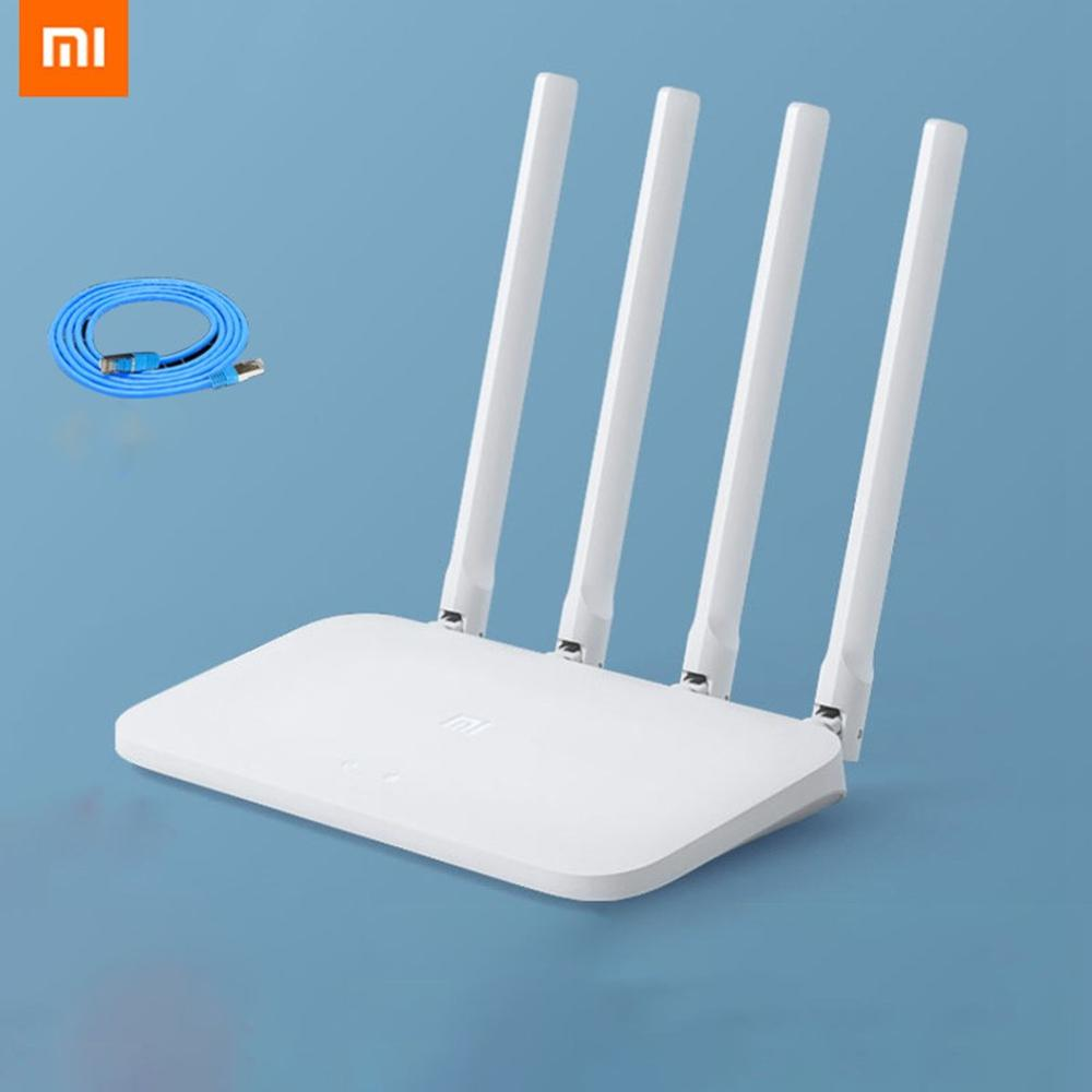 Xiaomi Router 4C ความเร็วสูง WiFi 802.11 b/g/n 2.4G 300Mbps สมาร์ท APP ควบคุม Band Wireless Routers Repeater title=