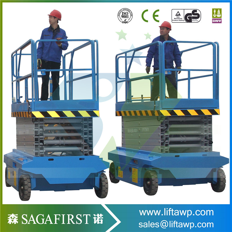 Low Failure Rate Hydraulic Platform Self Propelled Scissor Lifter