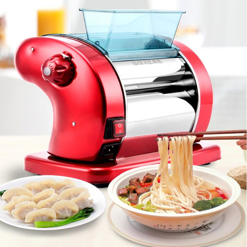 Household 220V Multifunctional Electric Noodle Machine Dumpling Wanton Skin Pressing Machine Automatic Noodle Maker