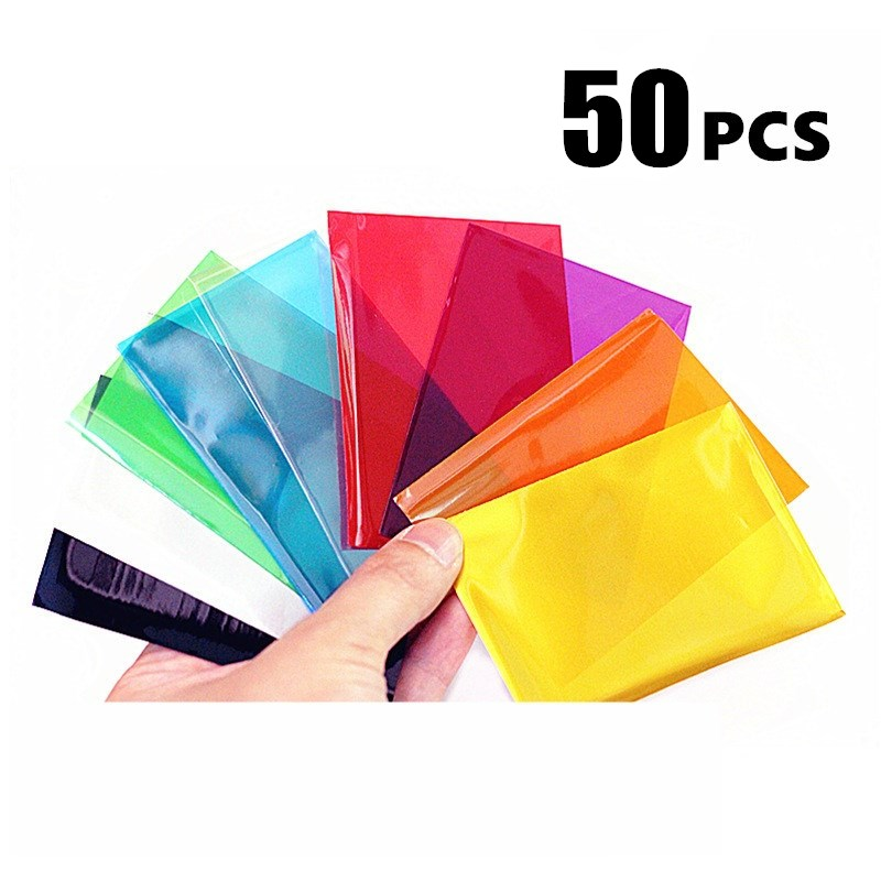 50 PCS/SET Colorful Backs Card Sleeves Cards Protector for Board Game Cards 6.5CM*9CM