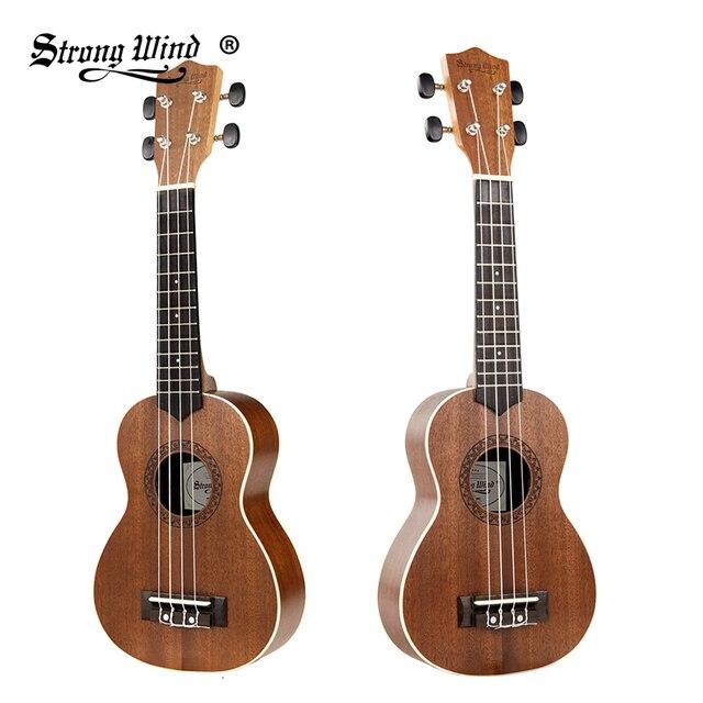 b8e98d5436 Strong Wind 21 Inch Acoustic Ukulele Stringed Music Instruments Mahogany  Mini Guitar Rosewood Soprano Ukelele For Beginner Kids
