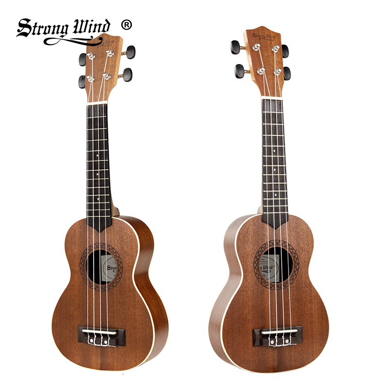 Strong Wind 21 Inch Acoustic Ukulele Stringed Music Instruments Mahogany Mini Guitar Rosewood Soprano Ukelele For Beginner Kids
