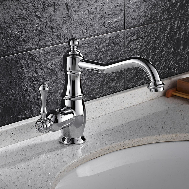 Free Shipping New Fashion Solid Brass Bathroom Faucet Hotu0026Cold Banheiro  Torneira 360 Turn Around Useful Basin