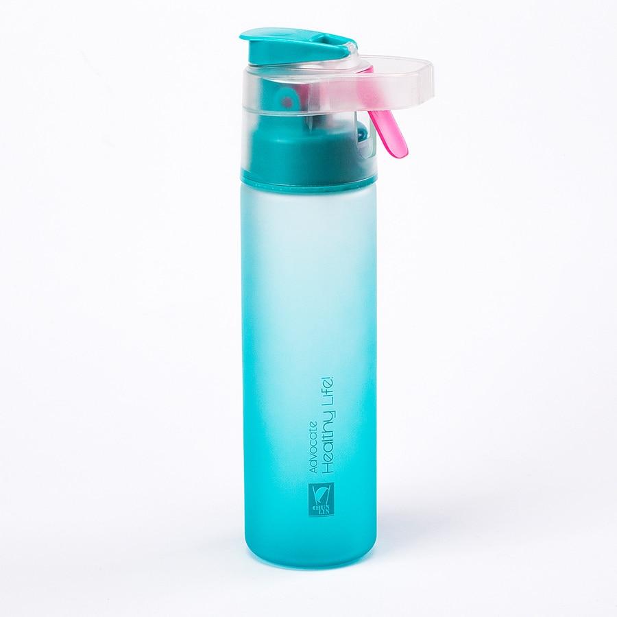 Bahar orman fırçalama sprey fincan açık spor fincan plastik şişe fincan fincan spor su ısıtıcısı ile öğrenciler