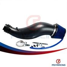 Pqy-universal racing-negro de plástico tubo de admisión de aire para honda civic 92-00 ek eg con filtro de aire de admisión tubería pqy-ait11bkn