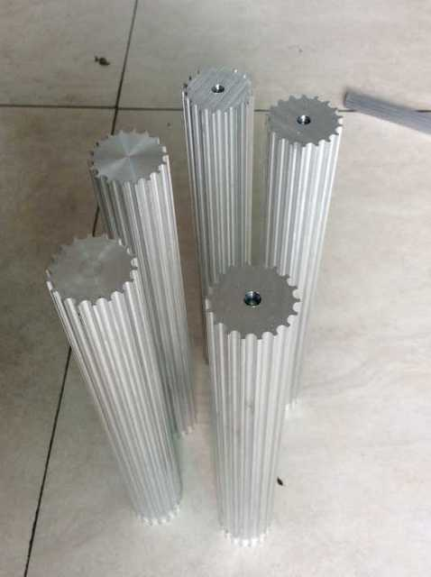Durable 7075 Aluminum MaterialChina Factory 42tooth200mm Length HTD5M Pulley Bar