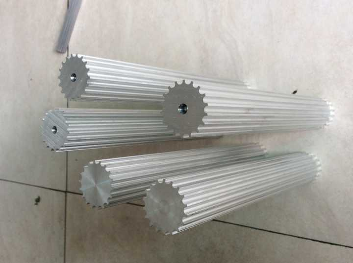 Matériau en aluminium Durable #7075, usine de porcelaine 42 dents, longueur 200mm, stock de barre de poulie HTD5M