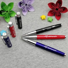 5 colors metal cap pen Nice personalized wedding gift for bridesmaid custom free with your wish text on cap/body