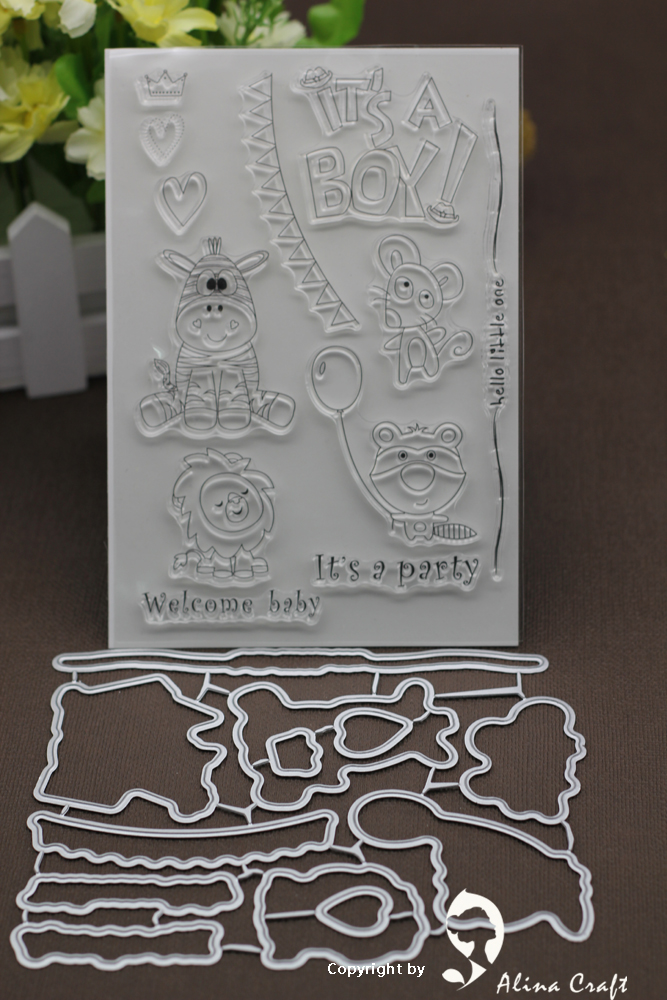 Baby Animals Clear Stamps and Dies for Scrapbooking Card Album