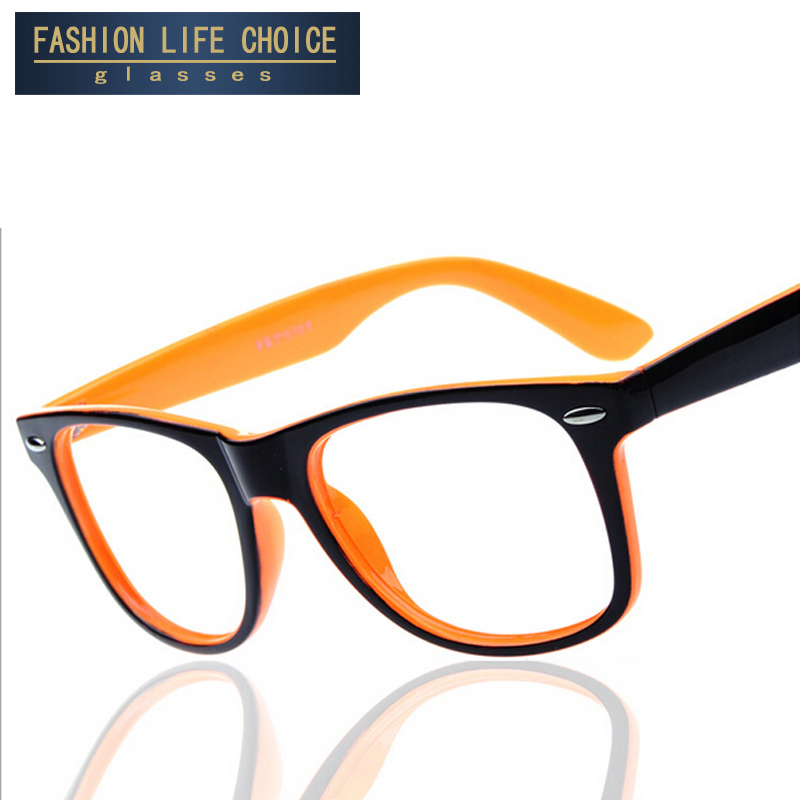 2017 fashion big glass frame without lenses round eye glasses frame for women and men oculos