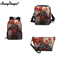 School Orthopedic Backpack Deadpool Comics Superheros Cartoon Printed Satchel School Bags Children Schoolbag Mochila Escolar(China)