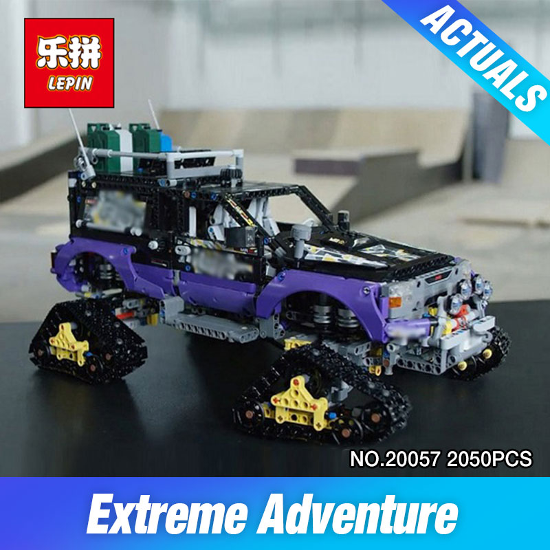 Lepin 20057 2050Pcs Genuine Technic Mechanical Series The Ultimate Extreme Adventure Car Set 42069 Building Blocks Bricks Toys lepin 20076 technic series the mack big
