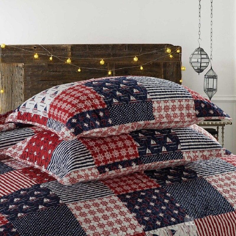 Chausub Sailing Summer Quilt Set 3pcs 100 Cotton Quilts Quilted