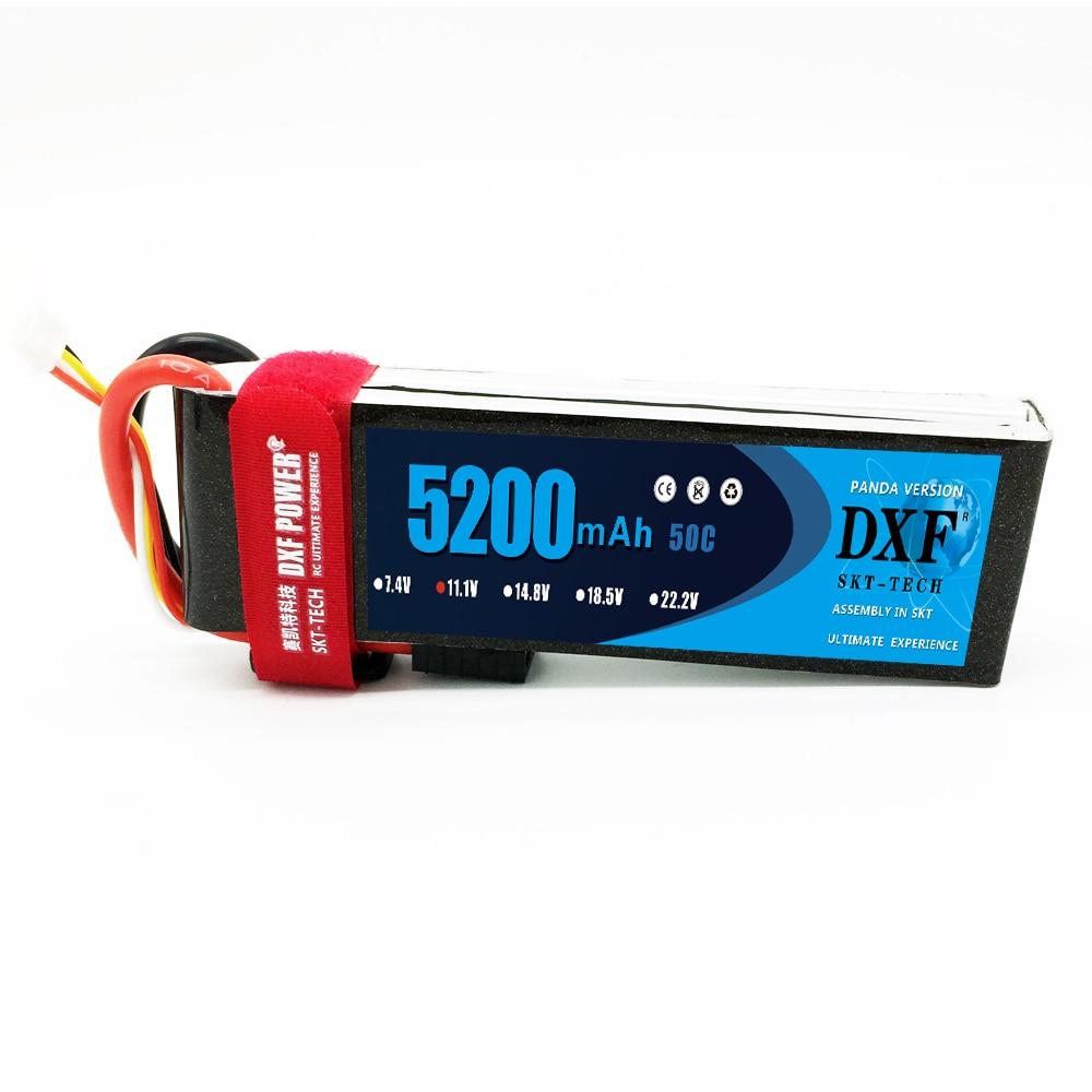 DXF 3 S Lipo batterie 3 S 11.1 V 5200 MAH 50C MAX100C T/XT60 LiPo RC batterie pour Rc hélicoptère voiture bateau