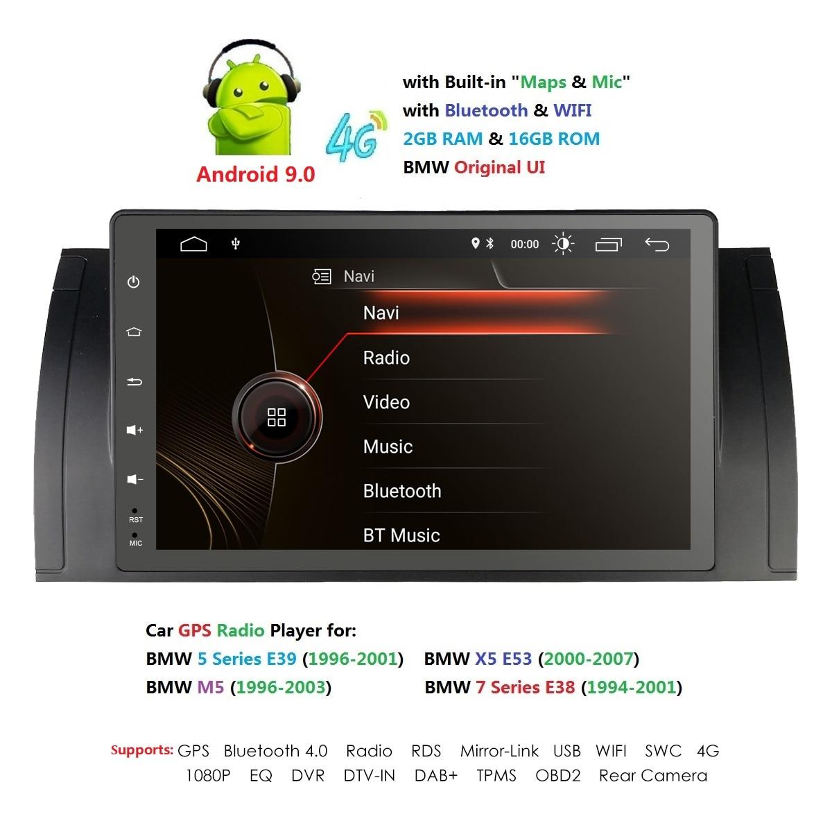 Ossuret DSP IPS Android 9.0 2 DIN voiture DVD GPS pour Audi TT MK2 8J 2006 2007 2008 2009 2010 2011 2012 lecteur multimédia radio obd2