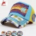 O chapéu de sol de verão crianças meninas Coreano boné de beisebol menino criança verão malha viseira tampão repicado surge