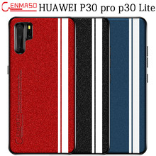 HUAWEI P30 Pro Case pearl PU Leather Soft Edge Protection Back Case Huawei P30 Case Huawei P30 Pro Lite Shockproof Cover Capa(China)