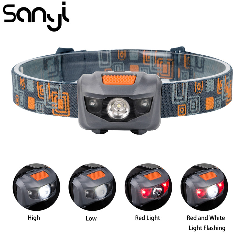 R3 LED Mini Headlamp Light Outdoor 800 Lumens 4 Modes Headlight Waterproof Head Flashlight Torch Lantern For Hunting Fishing