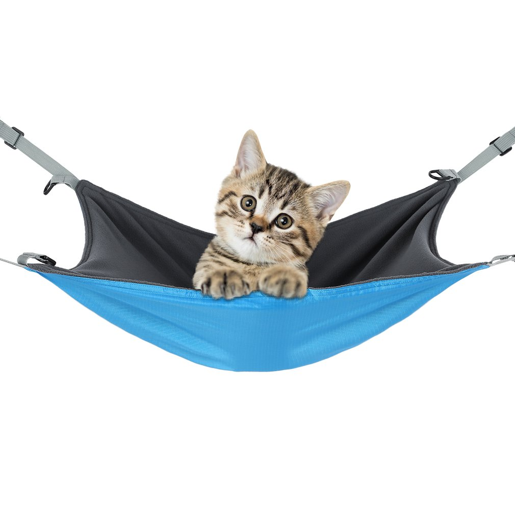 Reversible 2 Sides Pet Cat Cage Hammock Bed Mat for Small Pet Dog Soft Sleepy Pad Resting Hammocks Rabbit Hamster Hanging Bed