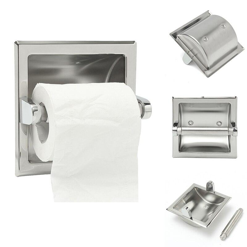 recessed toilet paper