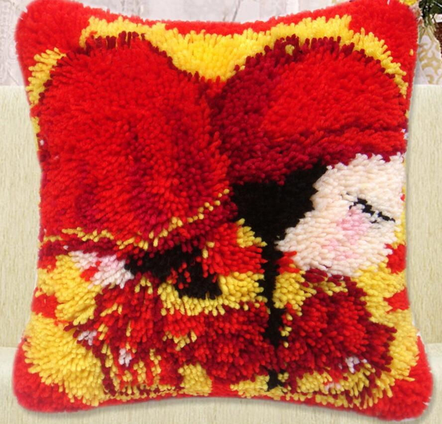Вышивка подушек крестом шерсть