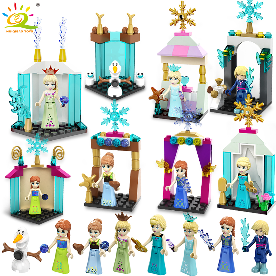 8pcs Friends Princess Doll Figures house Building Blocks Compatible Legoed Friend City Enlighten Bricks children Toys For Girl 2017 hot sale girls city dream house building brick blocks sets gift toys for children compatible with lepine friends