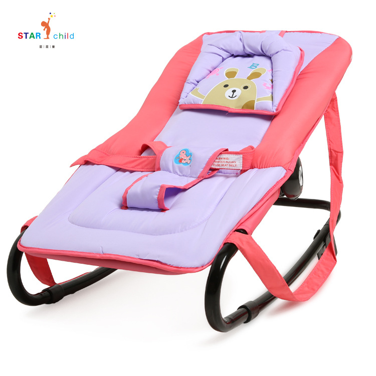 Baby Rocking Chair Recliner Soothing Chair Baby Cradle Music Vibrating Baby Magic Portable Folding
