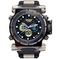 Sport watches for men Chronograph men LED watches  Army Digital watches Silicone wristwatch Waterproof 30M