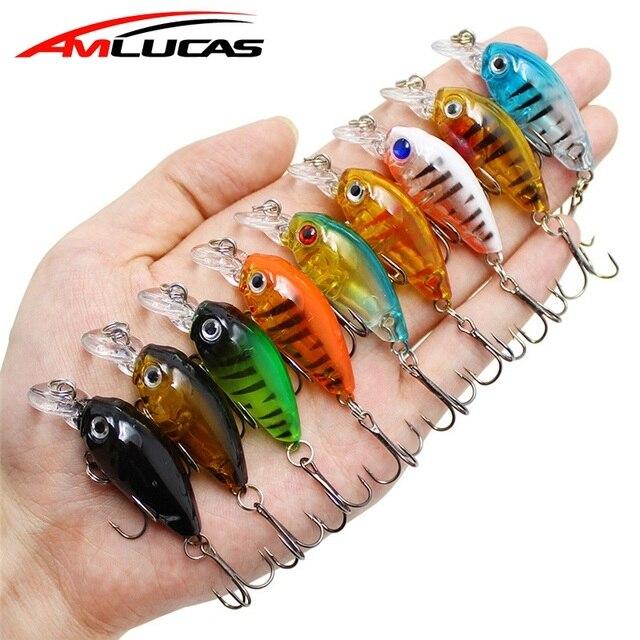 Amlucas мини кренкбейт 4,5 см 4,1 г пухленый Спиннер топвотер кренкбейт искусственная жесткая приманка воблеры Гольян рыболовные приманки WW333Y