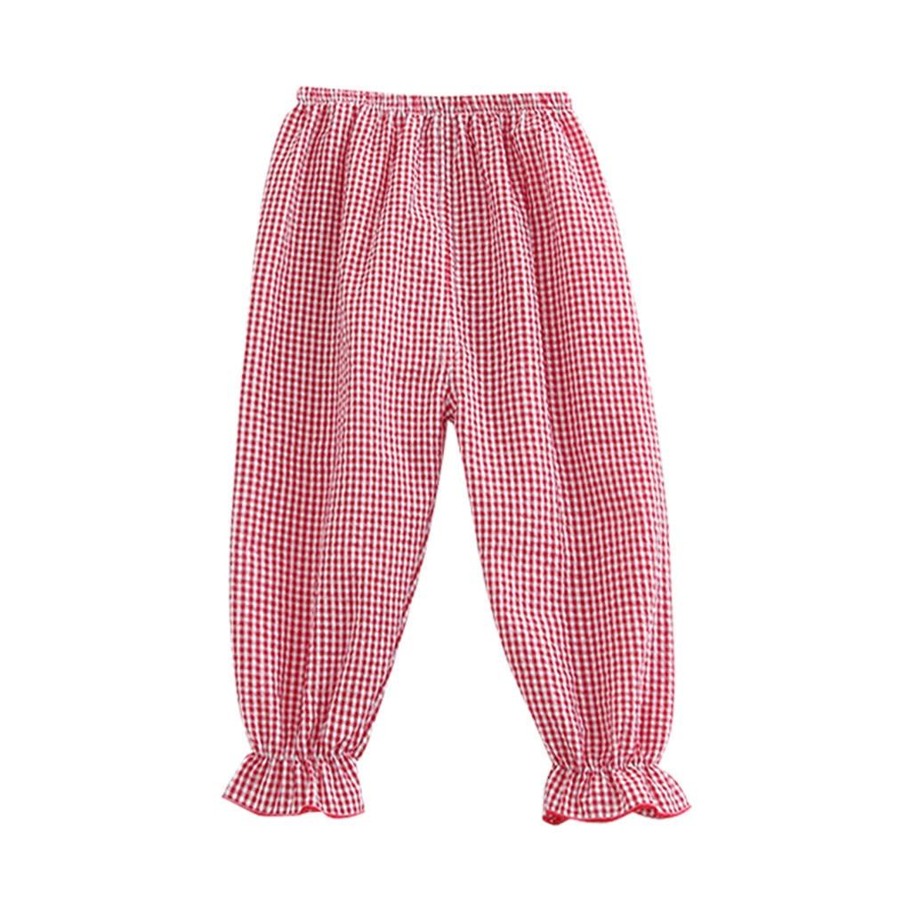 SAGACE Girl Pants Leggings Capris Kids Printed Sports Solid Plaid For Boy Harem Outfits