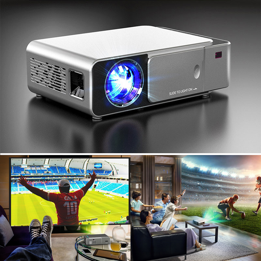 T5 светодиодный проектор 3D Android 4,4 HD (1G + 8G) с wifi Bluetooth мини светодиодный проектор hdmi USB мини проектор домашний медиаплеер - 2