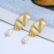 Bohopan Shell Shape Pendant Earrings For Women Elegant Imitation Pearl Drop Earrings Fashion Classic Female Earrings in Jewelry bohopan shell shape pendant earrings for women elegant imitation pearl drop earrings fashion classic female earrings in jewelry