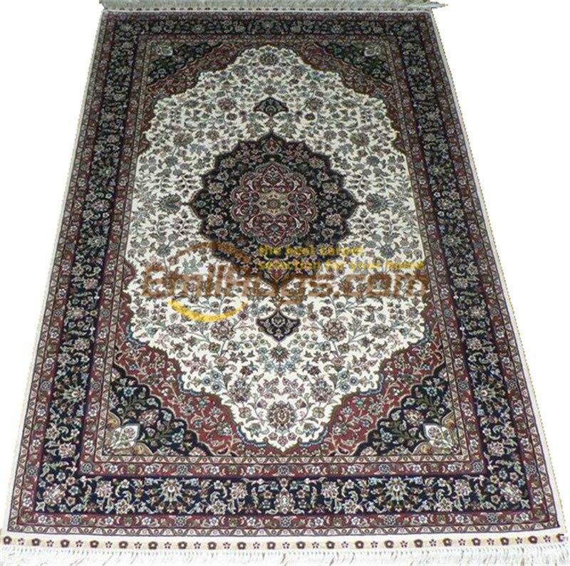 Soie tapis persan tapis Oriental tapis fait main grand tapis pour salon maison Decorgc117psilkyg28