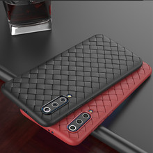 Weave Geweven Grid Soft TPU Silicone Cover Case Voor Xiao mi mi 9 t A3 8 LITE 9 Se rood mi note 5 plus 6 6A 7 7A K20 PRO S2 COQUE Capa(China)