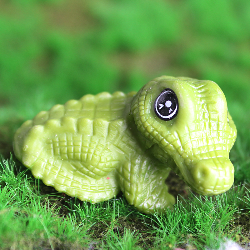 Cute Crocodile Crafts Animal Fairy Garden Miniatures DIY Ornament Decoration Crafts Figurines Micro Landscape Dropshipping
