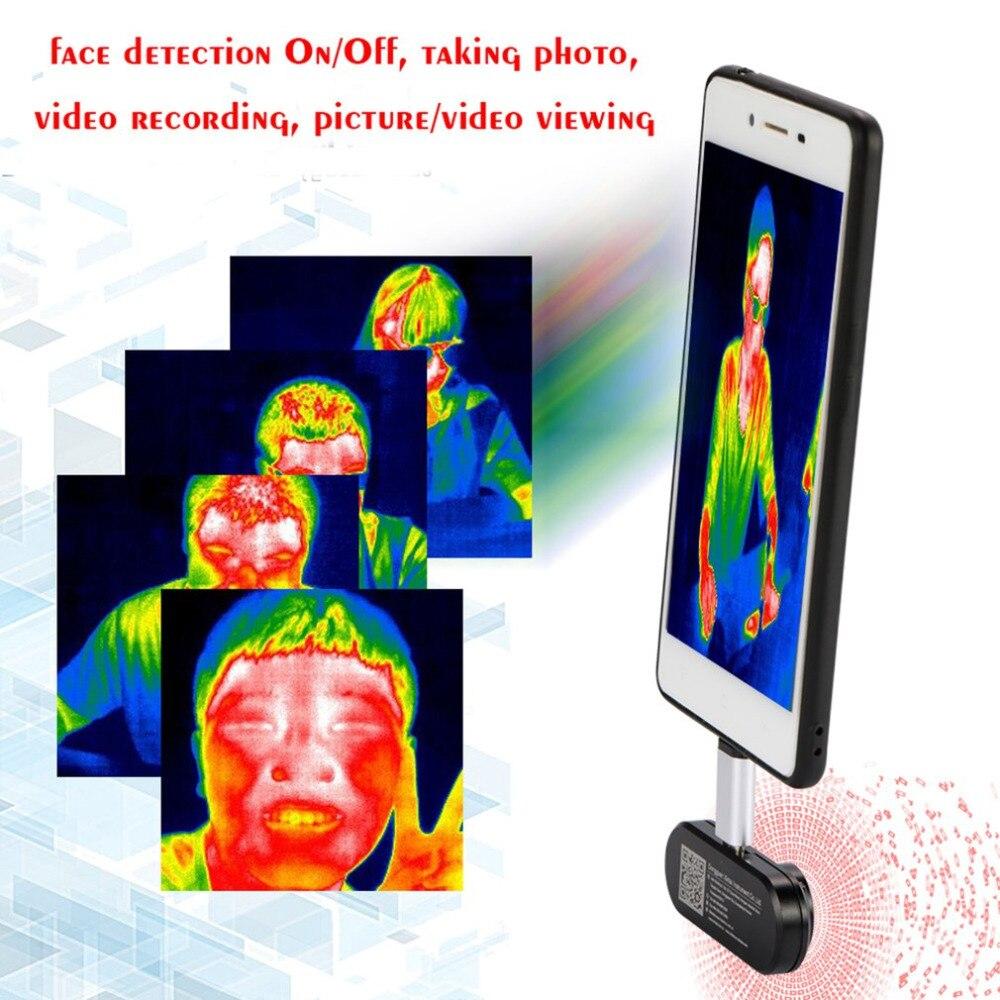 Téléphone portable externe infrarouge thermique imageur infrarouge caméra thermomètre Android téléphone OTG fonction avec adaptateur livraison directe