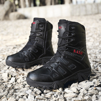 TOURSH Tactical Boots Military Desert Combat Boots Outdoor Shoes Men Boots Waterproof Tactical Shoes Military Krasovki Men