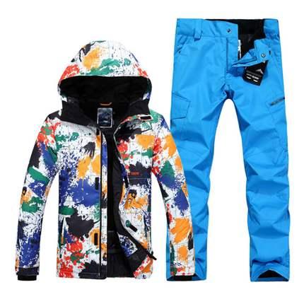 GSOU SNOW combinaison de Ski homme motif éclaboussures hiver épais chaud respirant coupe-vent imperméable manteau de Ski pantalon de Ski taille XS-XL
