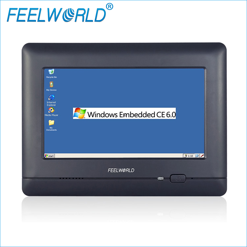 W7 7Inch Industrial Embedded Touch PC WinCE 6.0 Llinux with Lan Port RJ45 RS232 RS485 Industrial Computers Feelworld ultra thin 7 touch screen lcd wince 6 0 gps navigator w fm internal 4gb america map light blue