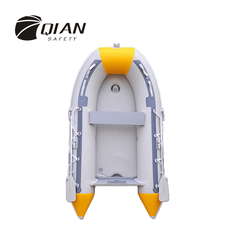 QIAN SAFETY Professional 5 Persons 4 Air Room PVC Natural Rubber River Stream Lake Fishing Inflatable Boat with Paddles Pump rowing boats rubber boat kit pvc inflatable fishing drifting rescue raft boat life jacket two way electric pump air pump paddles