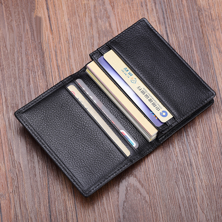 Luxury Fashion Genuine Leather Card Wallets Men Credit Card Holders Women Card&ID Holder Male Organizer Business Card Holder