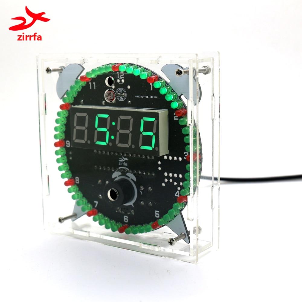 alarm clock zirrfa Rotating DS3231 Digital LED Display Module Alarm Electronic Digital Clock Temperature DIY Kit Learning Board 5V New (1)